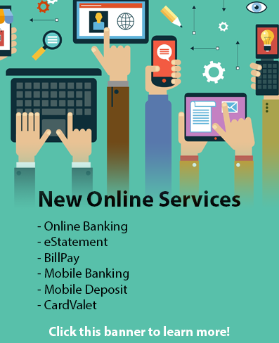Take a look at all the new online services available from Grand Timber Bank.